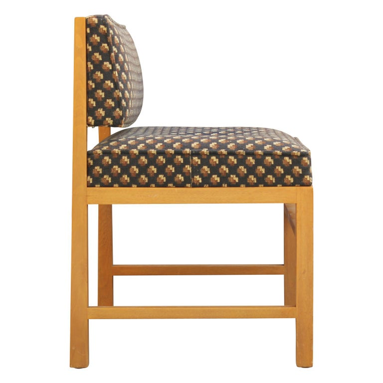 Mid-20th Century Modern Small Vanity / Boudoir Stool Bench by Edward Wormley for Dunbar For Sale
