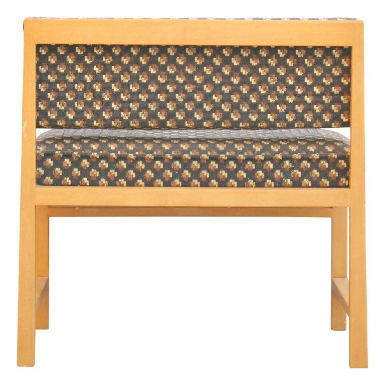 Modern Small Vanity / Boudoir Stool Bench by Edward Wormley for Dunbar For Sale 1