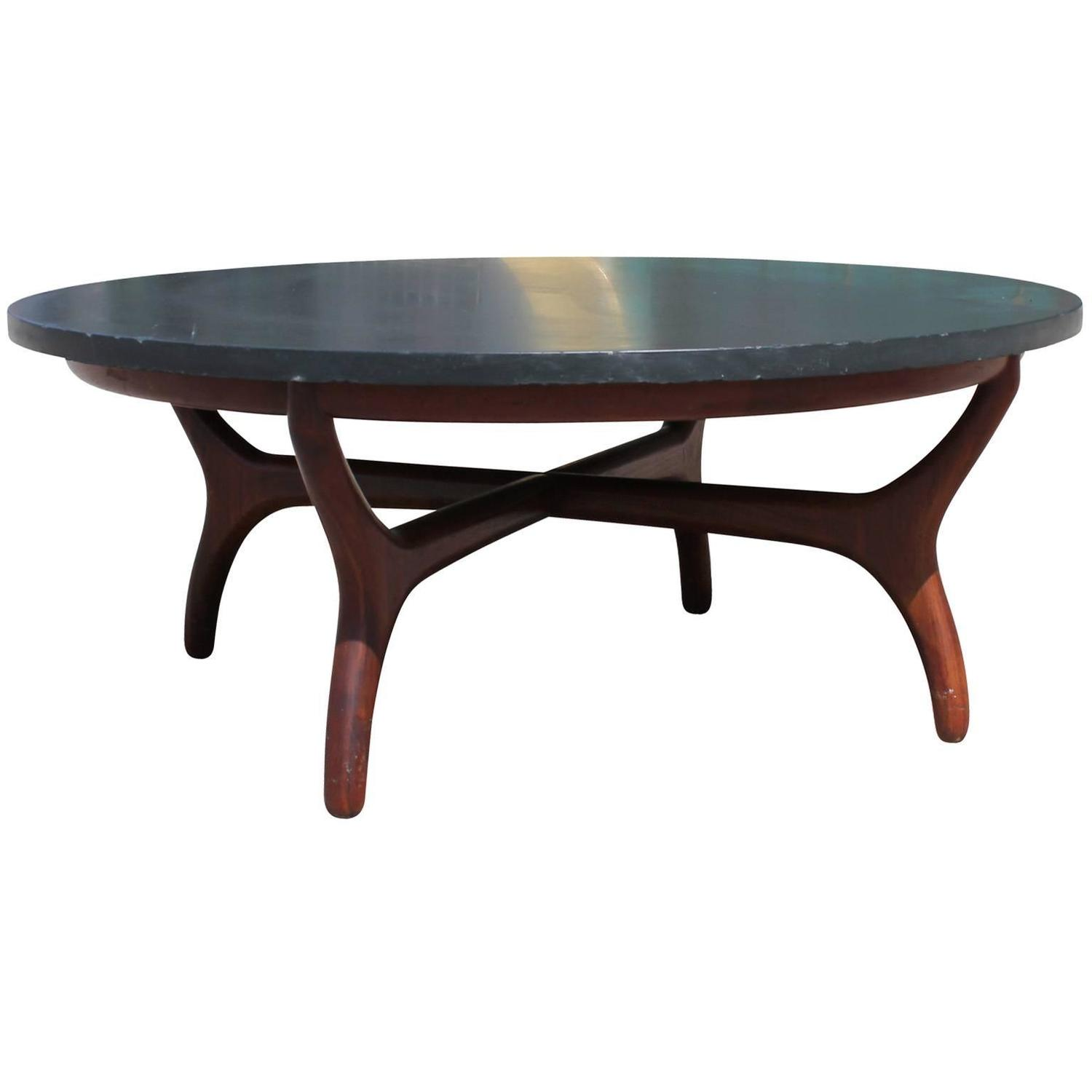 Beautiful Slate Topped Coffee Table By Henredon At 1stdibs