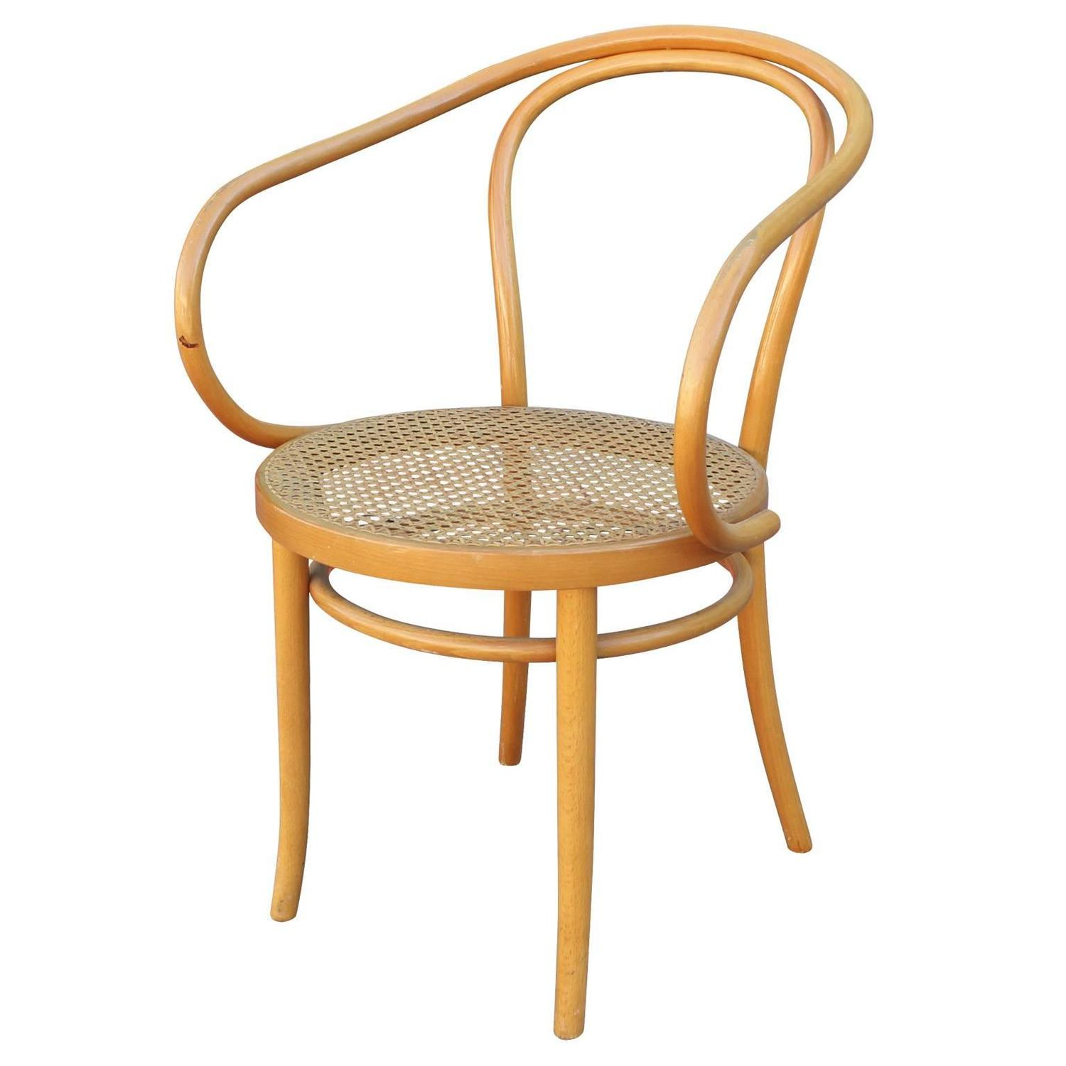 Set of six thonet 209 bentwood and cane dining chairs at for Dining room chairs set of 6