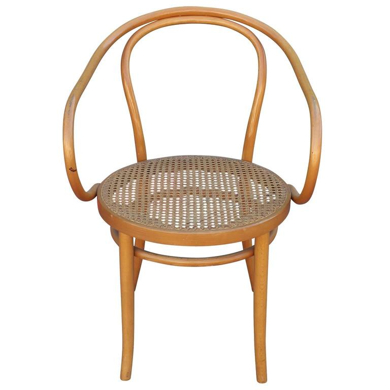 Set Of Six Thonet 209 Bentwood And Cane Dining Chairs At