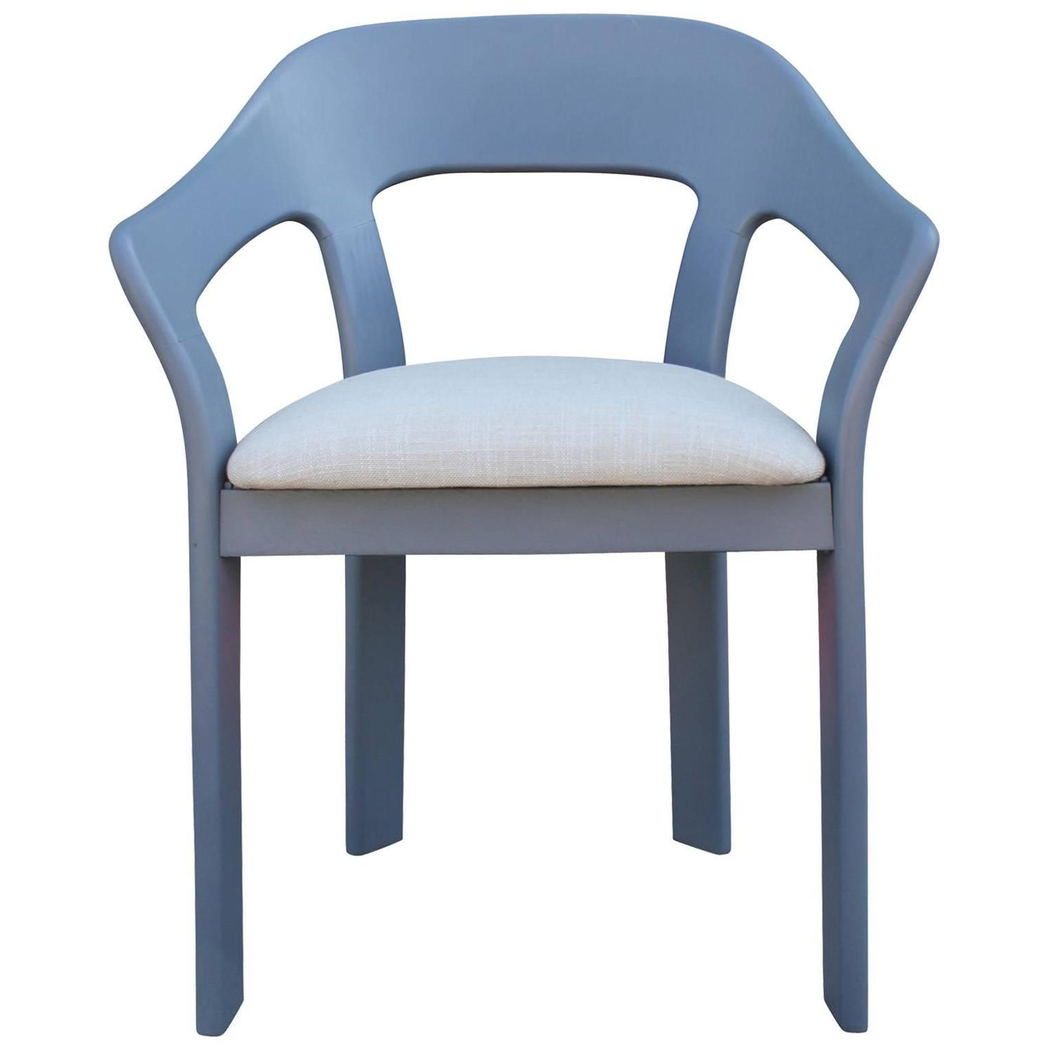 Set of Six Sculptural French Blue Grey Dining Chairs For  : greydiningchairs2z from www.1stdibs.com size 1500 x 1500 jpeg 60kB