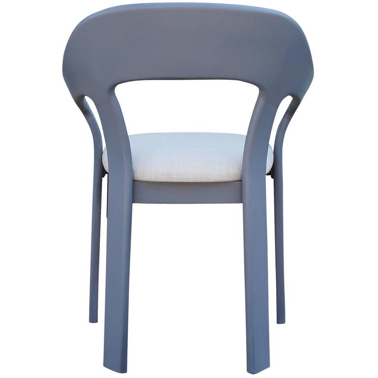 Set of Six Sculptural French Blue Grey Dining Chairs For  : greydiningchairs6l from www.1stdibs.com size 768 x 768 jpeg 21kB