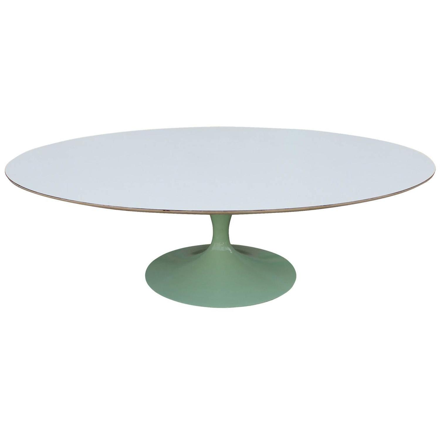 Eero Saarinen For Knoll Oval Tulip Coffee Table At 1stdibs