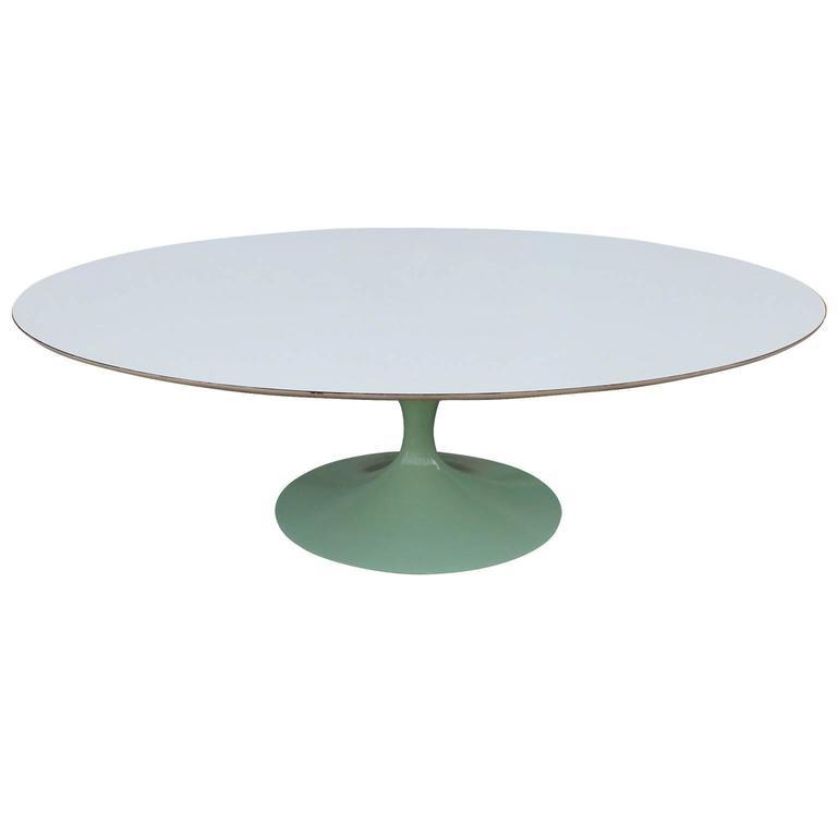 Oval Tulip Coffee Table: Eero Saarinen For Knoll Oval Tulip Coffee Table At 1stdibs