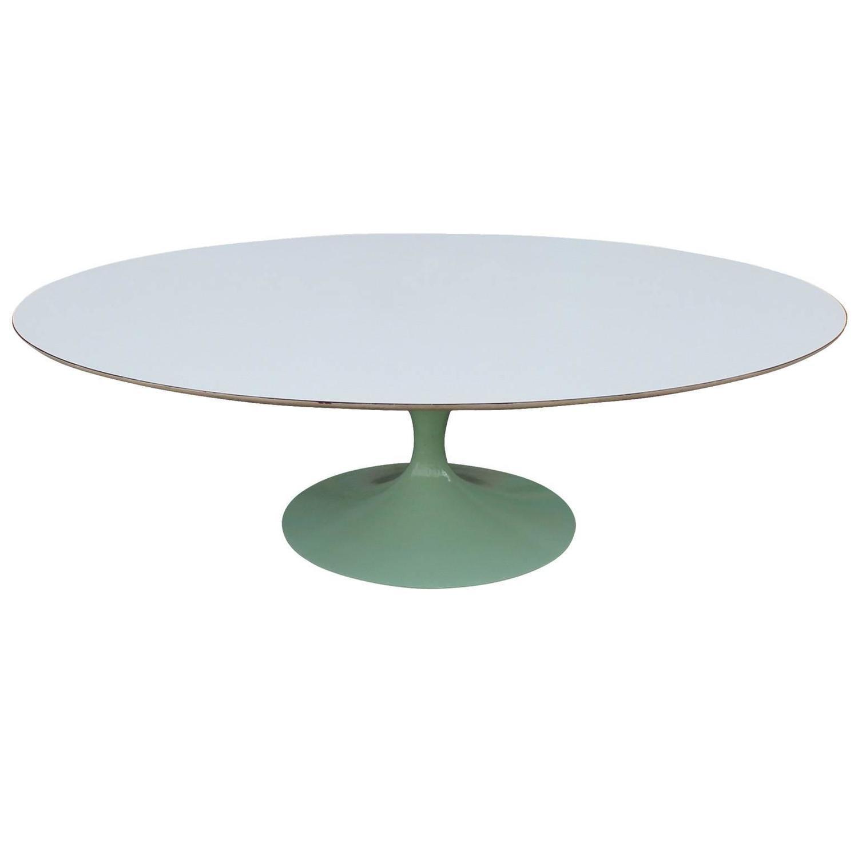 Eero Saarinen For Knoll Oval Tulip Coffee Table At 1stdibs