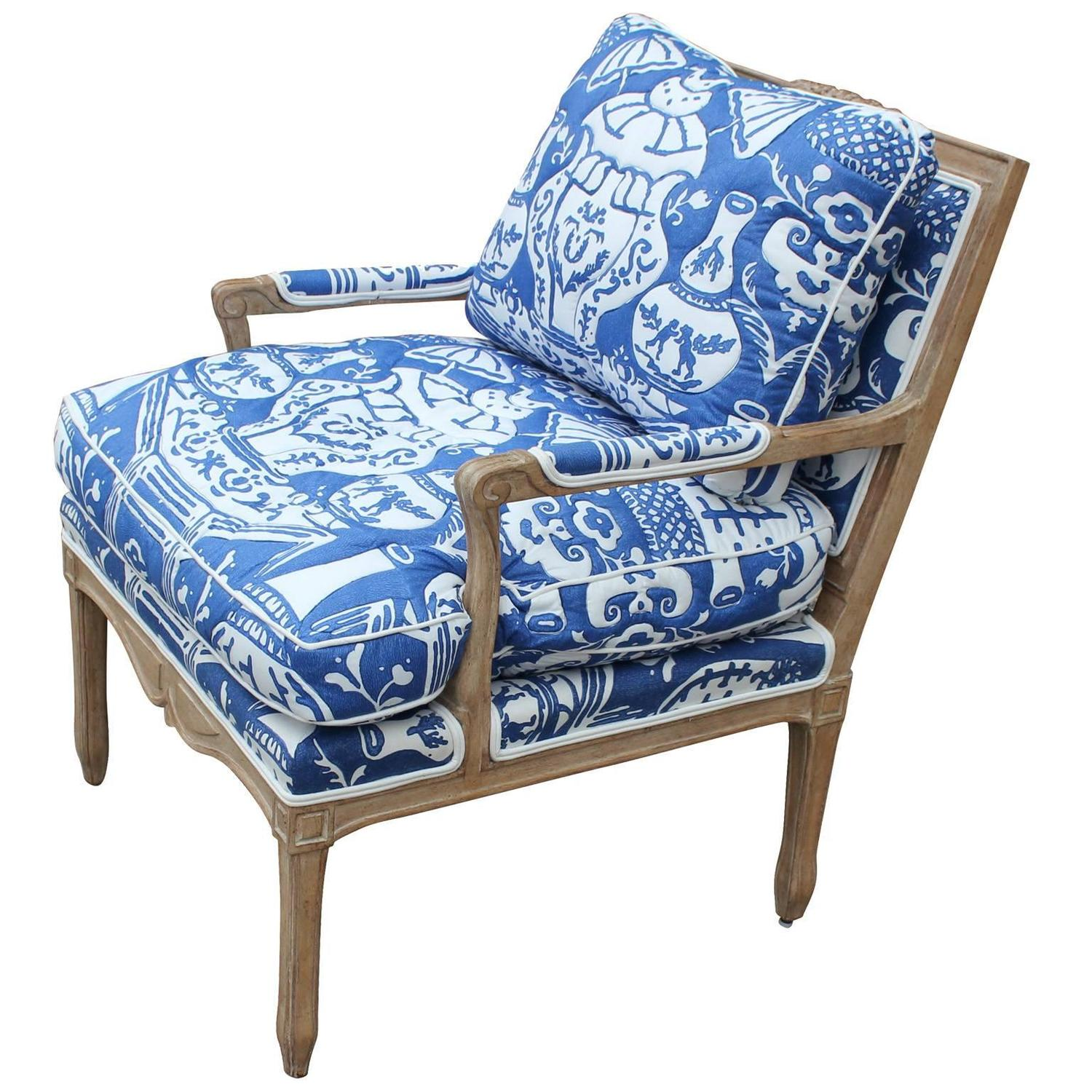 Stunning Pair Of French Down Filled Lounge Chairs At 1stdibs