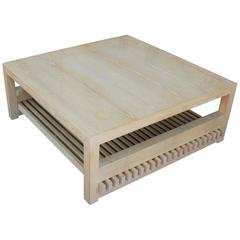 Ceruesed White Oak Coffee Table by Jay Spectre