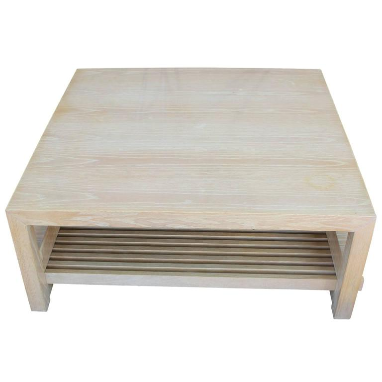 Ceruesed White Oak Coffee Table By Jay Spectre At 1stdibs
