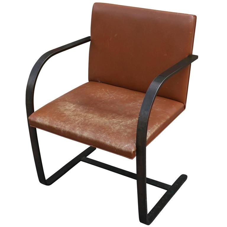 Mies Brno Chair rare mies van der rohe for knoll brno chair in bronze and caramel