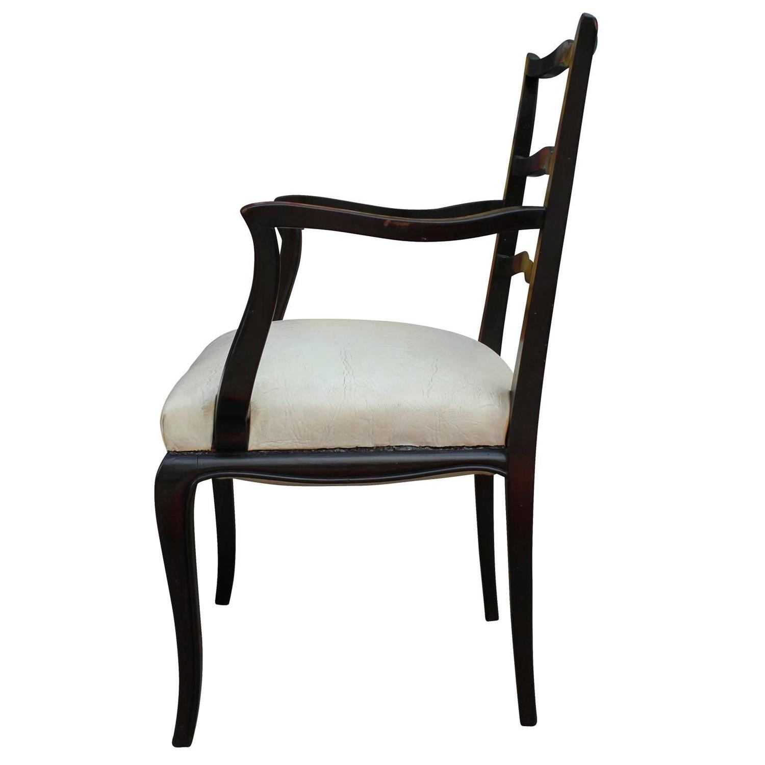 Fabulous Set Of Eight Argentinian Ladder Back Dining Chairs For Sale At 1stdibs