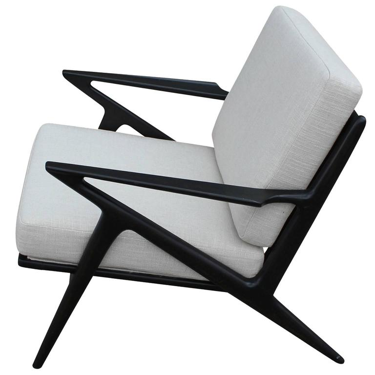Pair of poul jensen for selig z lounge chairs at 1stdibs for Poul jensen z chair
