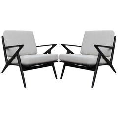Pair of Poul Jensen for Selig Z Lounge Chairs
