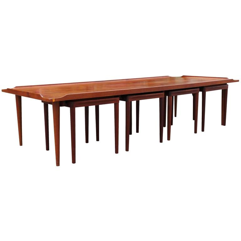 Mid Century Modern Danish Coffee Table With Reversible