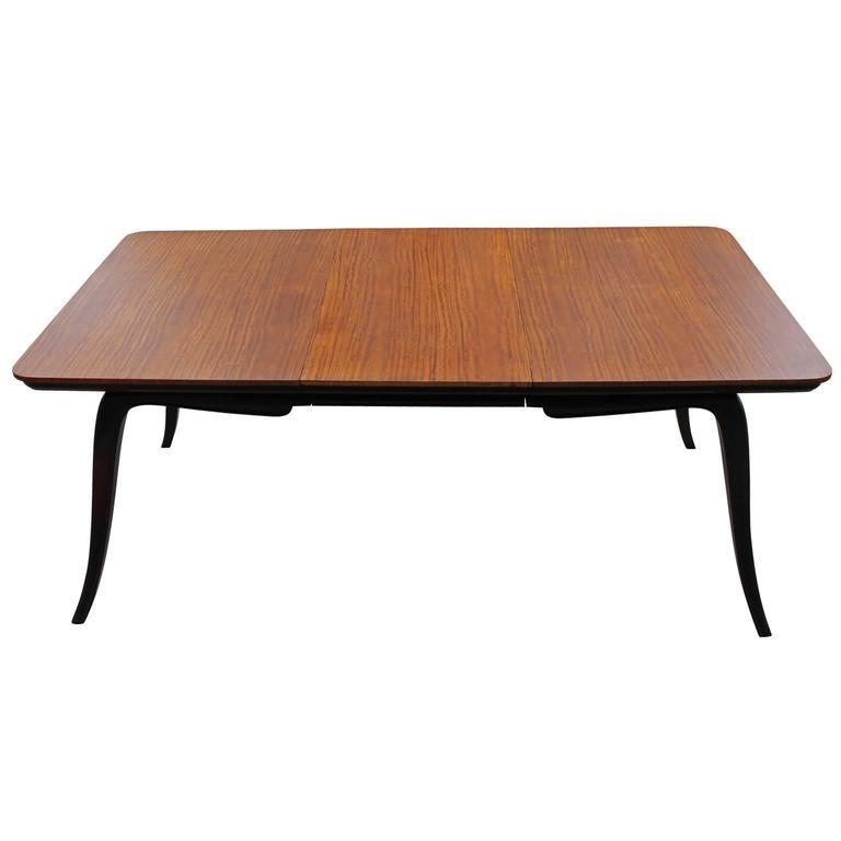 sculptural hollywood regency argentine two tone dining table for sale at 1stdibs. Black Bedroom Furniture Sets. Home Design Ideas