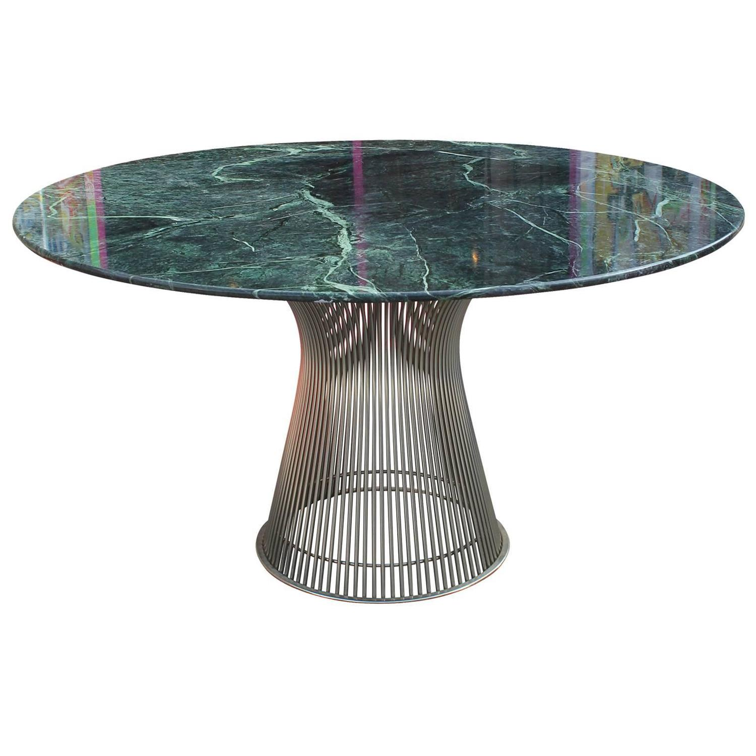 Marble Coffee Table Houston: Iconic Warren Platner Dining Table With Green Marble Top