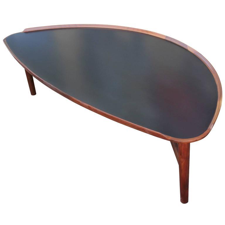 Baker Thomas Pheasant Coffee Table: Oragnic Finn Juhl For Baker Two Tone Walnut Coffee Table