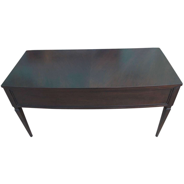 Elegant Black Ebonized Executive Desk by Mount Airy at