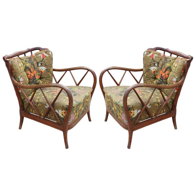 Iconic Italian Lounge Chairs Attributed to Paolo Buffa