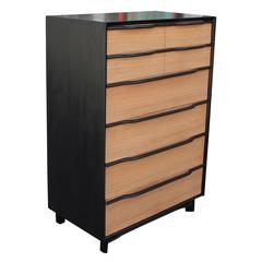 Mahogany Two Tone Modern Tall Dresser by Hickory Manufacturing