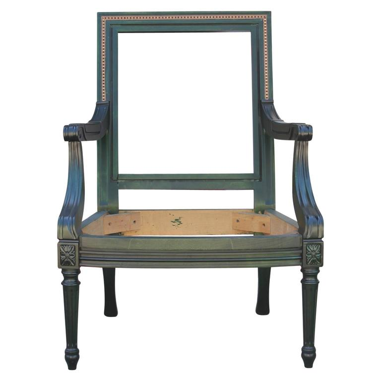 French Aniline Dyed Emerald Green Lounge Chair, COM