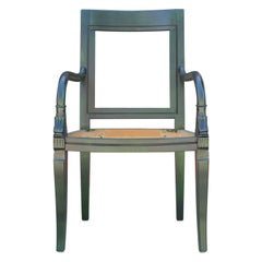 French Aniline Dyed Emerald Green Lounge Chair Com