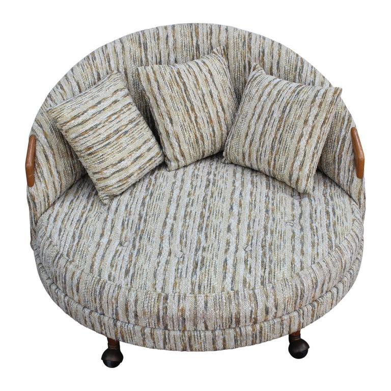 modern adrian pearsall havana chair in original fabric 2