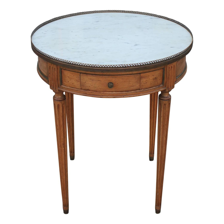 "Baker Furniture ""Milling Road"" Figured Walnut Regency Side Table"