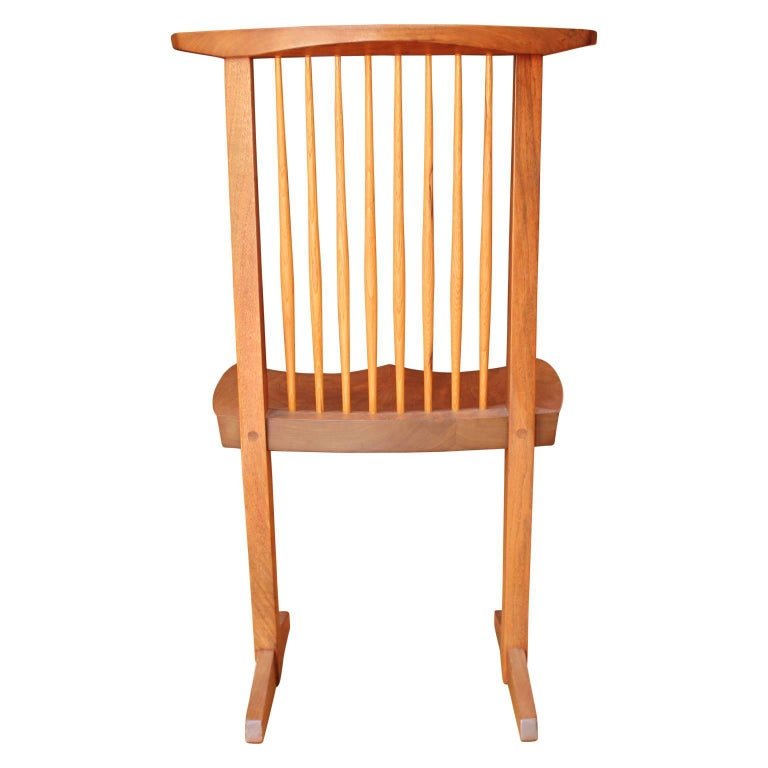 Set of Ten George Nakashima Conoid Dining Chairs For Sale 1