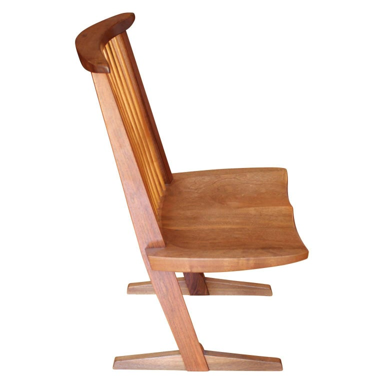 Late 20th Century Set of Ten George Nakashima Conoid Dining Chairs For Sale