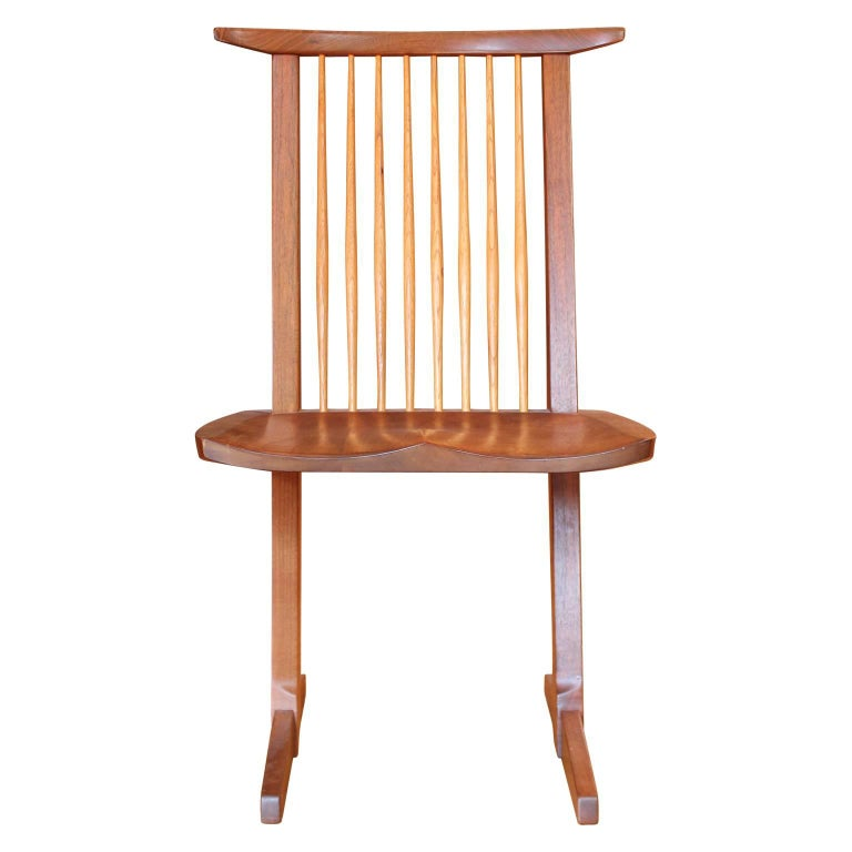 Organic Modern Set of Ten George Nakashima Conoid Dining Chairs For Sale