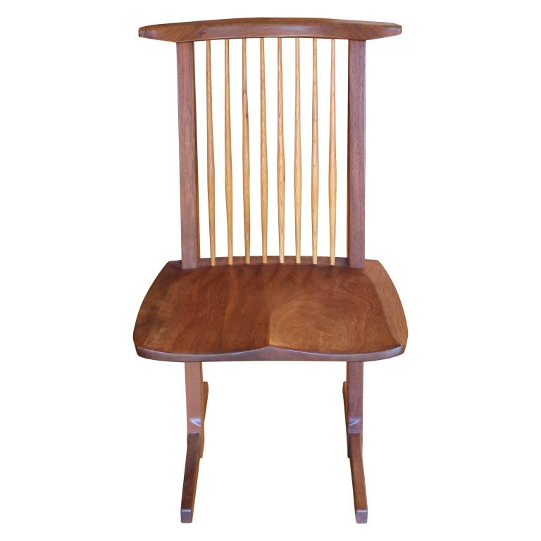 Hickory Set of Ten George Nakashima Conoid Dining Chairs For Sale