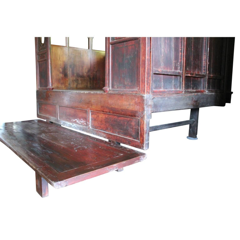 Traditional chinese wedding bed with platform and hand for Chinese furniture houston tx