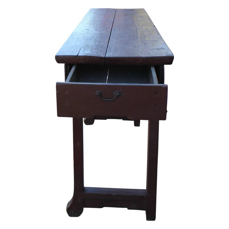 Foyer Table Houston : Th century red chinese altar table rustic or entryway
