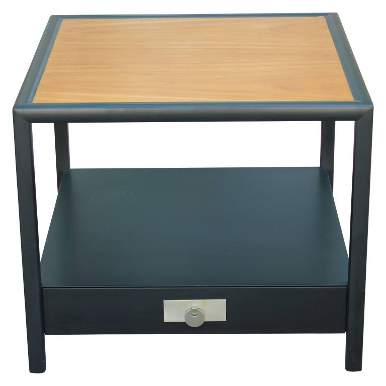 Modern Baker Furniture Michael Taylor Table with Nickel Hardware