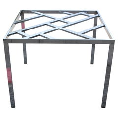 Modern Milo Baughman Square Chrome Dining or Kitchen Table