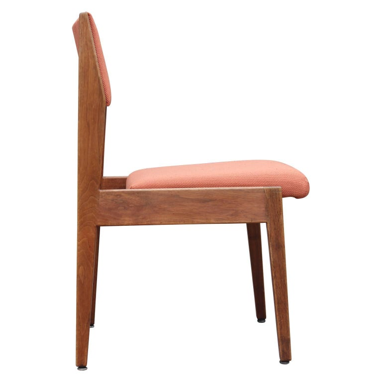 Modern Set Of Four Jens Risom Dining Chairs For Sale At