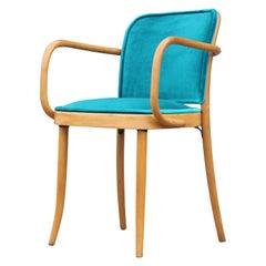 Modern Josef Hoffmann Thonet No 811 Turquoise Velvet Dining Chair