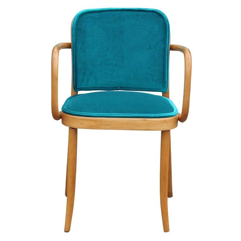 Modern Josef Hoffmann Thonet No 811 Turquoise Velvet ...