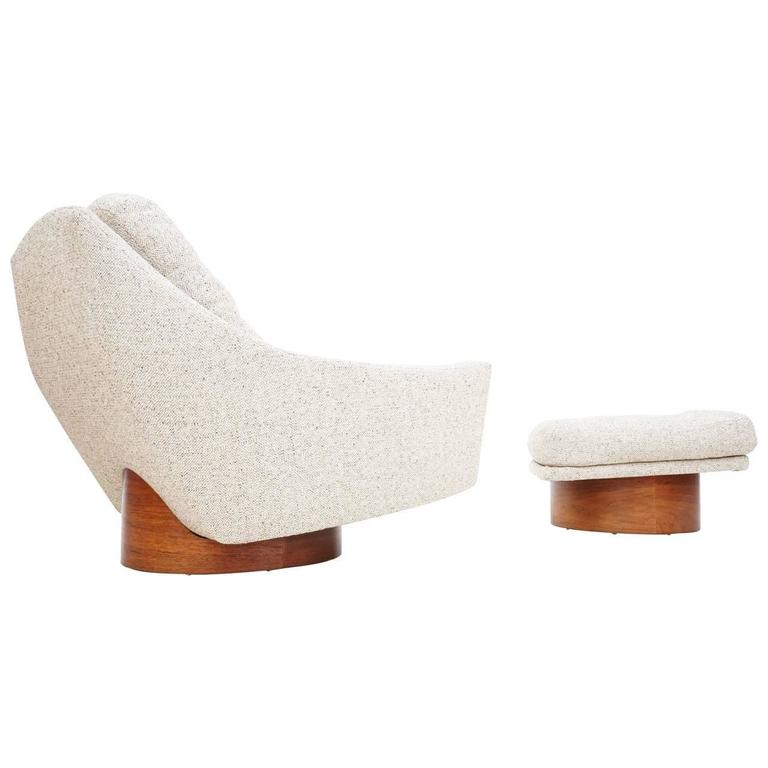 Oversized Floating Lounge Chair And Ottoman By Loft