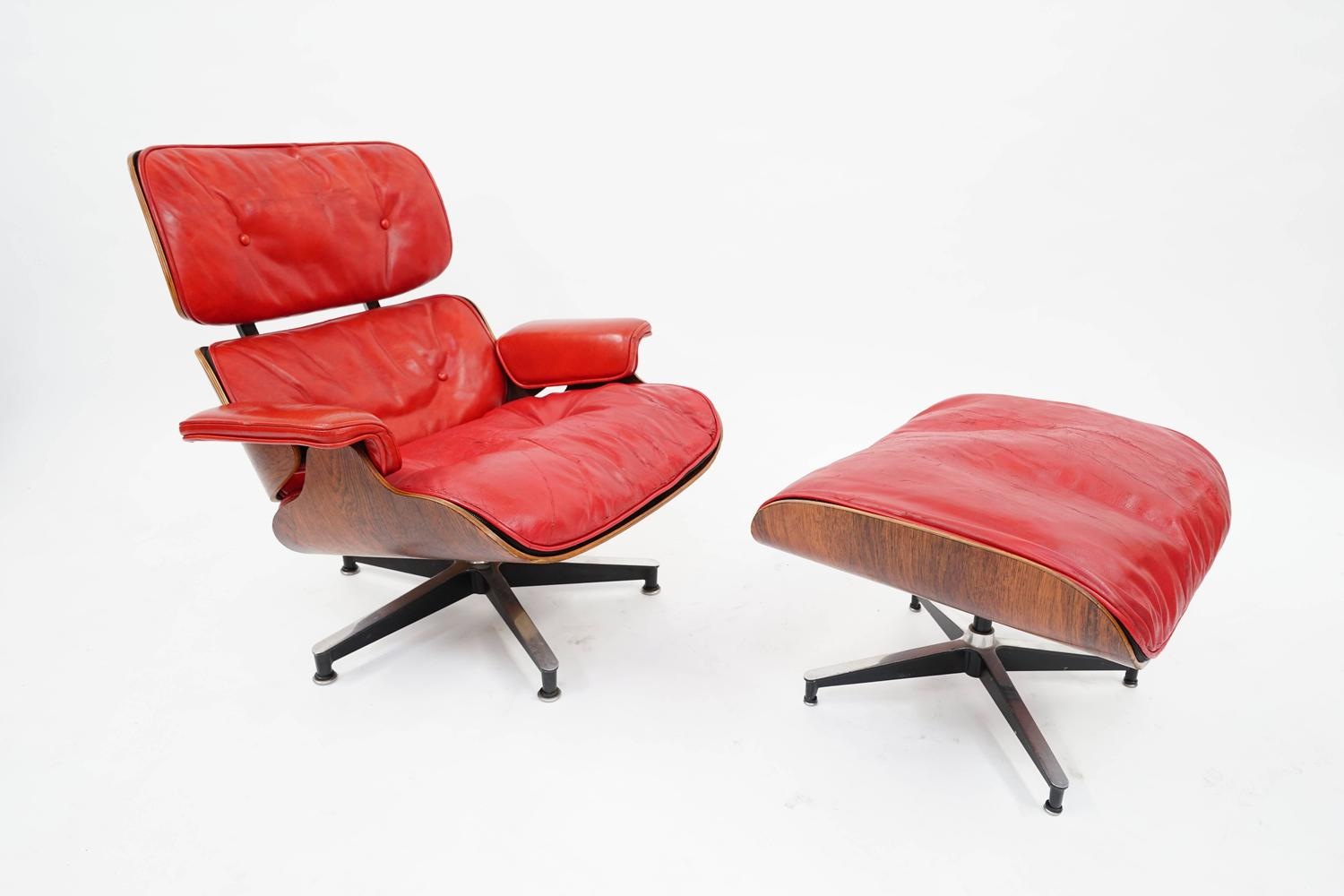 rare pepsi red eames lounge chair by herman miller for pepsi co a