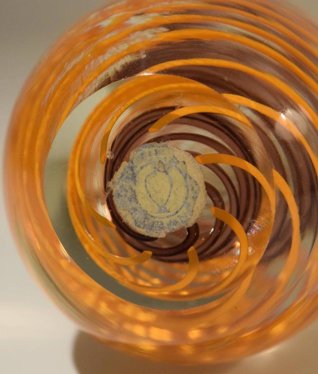 Italian Venini Glass Paperweight For Sale
