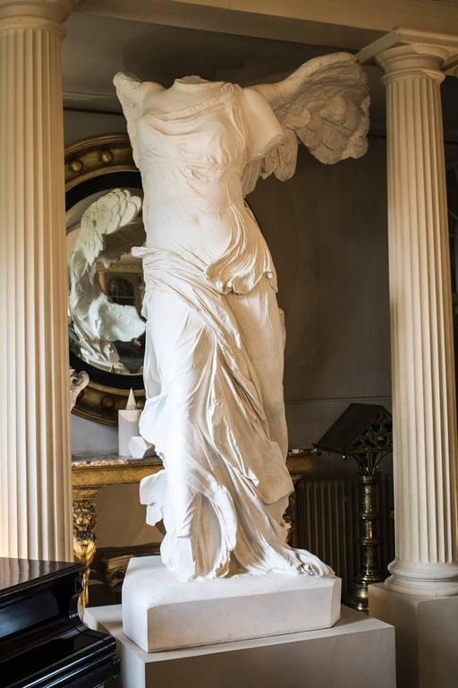 Rare 20th Century Monumental Plaster Nike Statue, Winged Victory of Samothrace In Fair Condition For Sale In Oxfordshire, GB