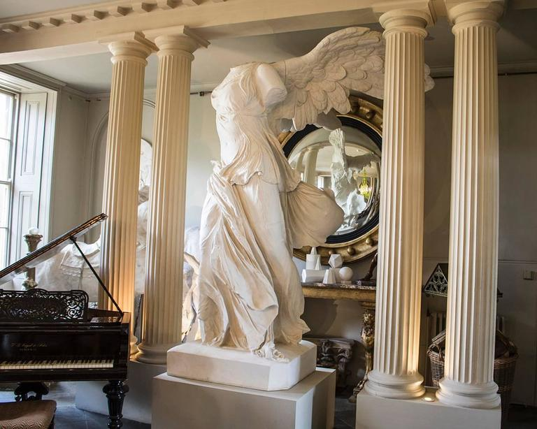 Rare 20th Century Monumental Plaster Nike Statue, Winged Victory of Samothrace For Sale 2