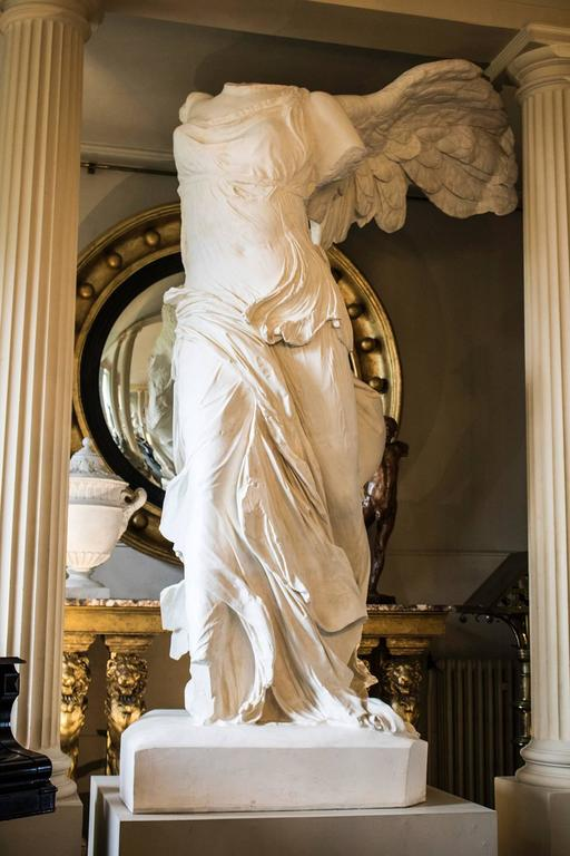 Rare 20th Century Monumental Plaster Nike Statue, Winged Victory of Samothrace For Sale 1