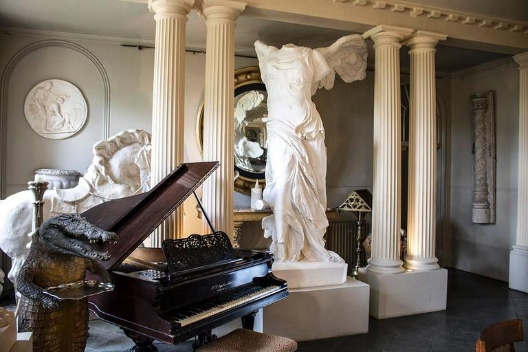 Rare 20th Century Monumental Plaster Nike Statue, Winged Victory of Samothrace For Sale 3