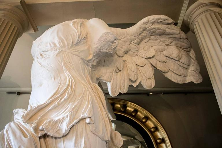 Rare 20th Century Monumental Plaster Nike Statue, Winged Victory of Samothrace For Sale 4