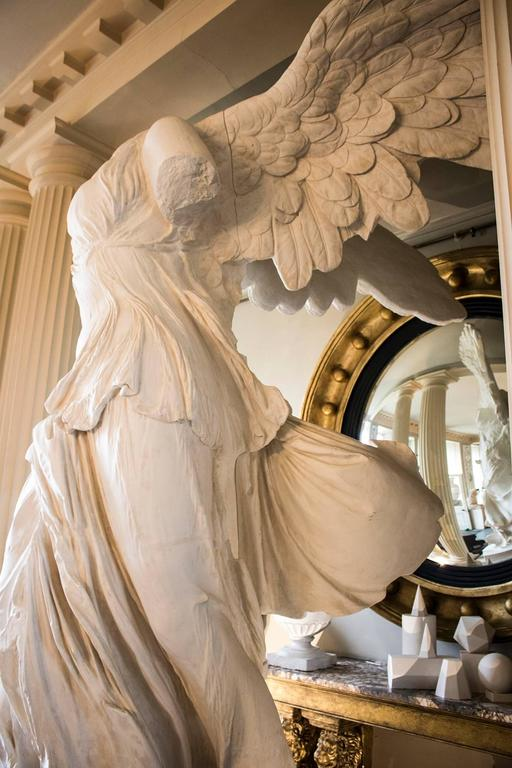 Rare 20th Century Monumental Plaster Nike Statue, Winged Victory of Samothrace For Sale 5