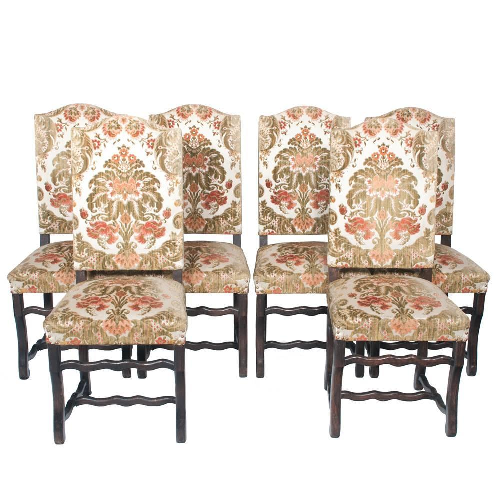 Country French Dining Chairs S/6 At 1stdibs