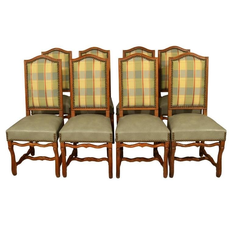S 8 Country French Dining Chairs at 1stdibs